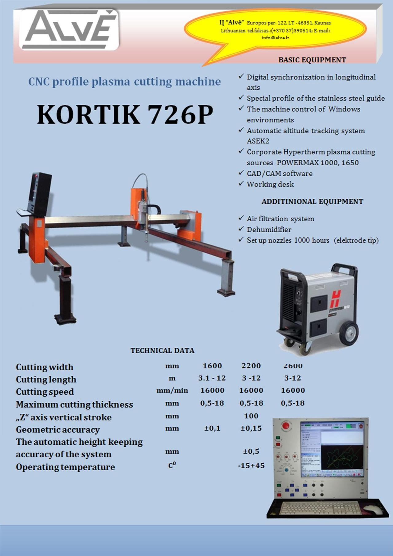 "Machine ""Korsaras7126P"""